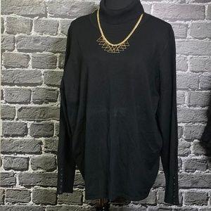 Lane Bryant Black Turtleneck Rayon Sweater 26/28